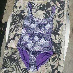 NWT Onia Kelly printed purple swimsuit